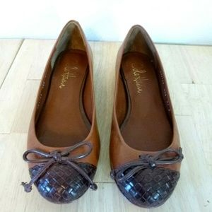 Cole Haan Air Brown Woven Toe Ballet Flat 5.5 B